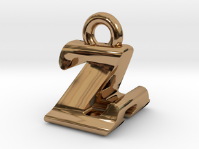 3D Monogram - ZAF1 in Polished Brass