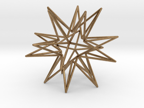 Icosahedron Star in Natural Brass