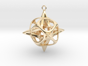 Christmas Star No.2 in 14K Yellow Gold