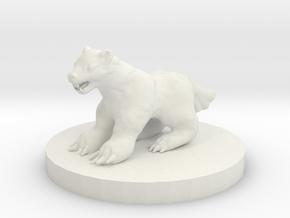 Wolverine Miniature in White Natural Versatile Plastic