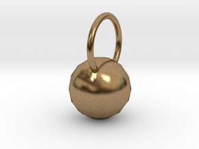 Low Res Disco Sphere Pendant in Natural Brass