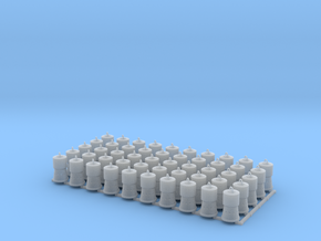 Charcoal Heaters for Reefers HO Scale X50 in Smooth Fine Detail Plastic