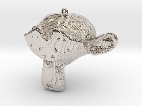 """Suzanne Pendant """"Cube-Crafted"""" Style in Platinum"""