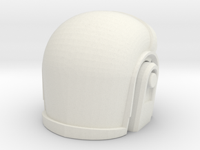 3D Printed Daft Punk Helmet in White Natural Versatile Plastic