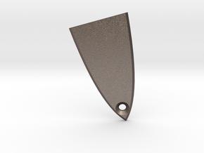 ESP/LTD Truss Rod Cover in Polished Bronzed Silver Steel