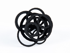 Circle Ring size 8 in Black Natural Versatile Plastic
