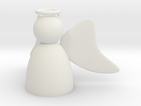 Angel with Wings Flat in White Natural Versatile Plastic