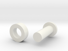 Combo PIN in White Natural Versatile Plastic