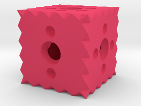 Dice38 in Pink Processed Versatile Plastic
