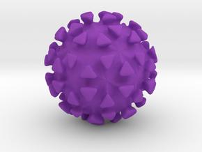 Virus Ball in Purple Processed Versatile Plastic
