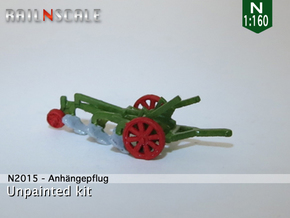 Anhängepflug (N 1:160) in Smooth Fine Detail Plastic