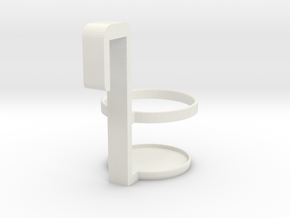 Cup Holder in White Natural Versatile Plastic