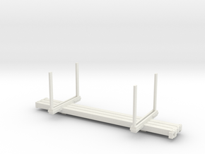 HOn3 Log Car mk.2 for extra weight in White Natural Versatile Plastic