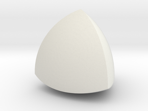 Meissner tetrahedron - Type 1 in White Natural Versatile Plastic