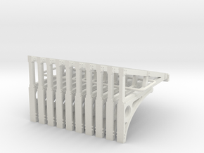 E2 Cantilever Truss 3320L - 4mm in White Natural Versatile Plastic