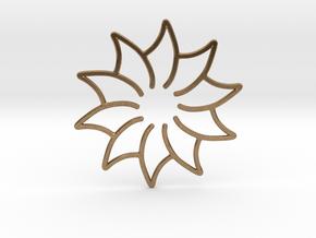 Dreamcatcher - Flower in Natural Brass