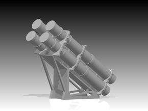 Harpoon missile launcher 4 pod 1/72 in Smooth Fine Detail Plastic
