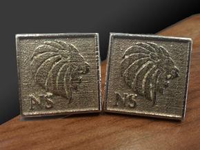 Personalized Cufflinks - Lion Head Cufflinks in Stainless Steel