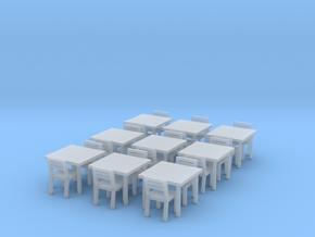 Tavoli per il Ristorante Al Mare H0-Scale in Smooth Fine Detail Plastic