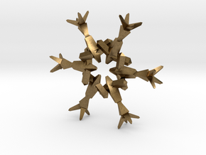 Snow Flake 6 Points B - 4.6cm in Natural Bronze