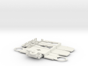 Fahrgestell GT6N / Chassis GT6N in White Natural Versatile Plastic