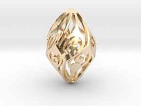 Twisty Spindle d10 in 14K Yellow Gold