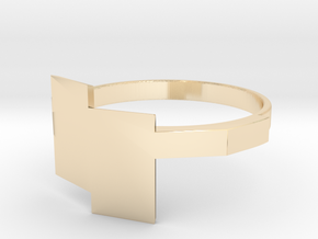 Geo Combo Ring part2 in 14K Yellow Gold
