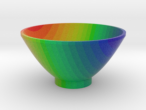 DRAW bowl - rainbow striped in Full Color Sandstone