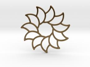 Dreamcatcher - Sunflower  in Natural Bronze