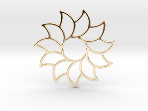 Dreamcatcher - Sunflower  in 14K Yellow Gold