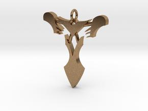"Pendentif Bionicle - ""T"" (Takanuva) in Natural Brass"