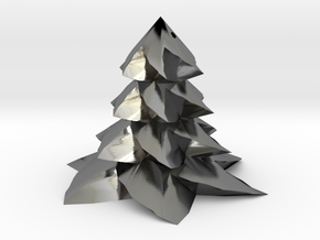 Christmas tree - Sapin De Noel in Polished Silver