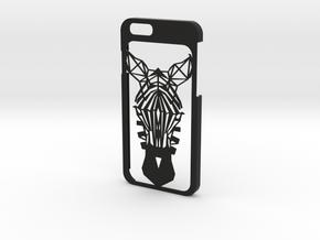 iPhone 6 - Zebra case in Black Natural Versatile Plastic