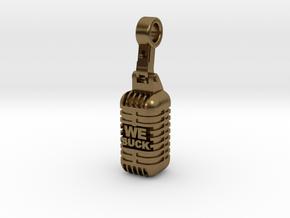 We Suck Vintage Microphone in Natural Bronze