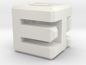 Connect Die D6 in White Natural Versatile Plastic