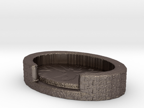 Tiny Pet Bed in Polished Bronzed Silver Steel