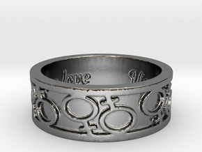 Same Love 1 Ring Size 7 in Polished Silver