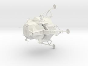 Apollo - Moon Mission in White Natural Versatile Plastic