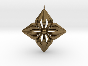 Star Ornament in Natural Bronze