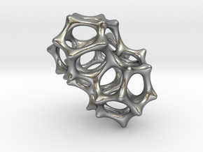 VORONOI CLUSTER II  (Pendant) in Natural Silver