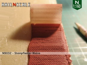Steinpflaster-Walze (Reihenverband - N 1:160) in Frosted Ultra Detail