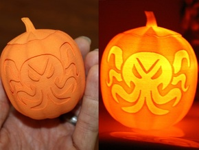 Cthulhu Jack-O-Lantern in Orange Processed Versatile Plastic