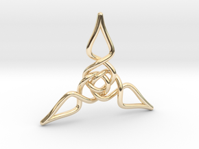 Triquetra Pendant 1 in 14K Yellow Gold