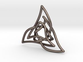 Triquetra 3 in Polished Bronzed Silver Steel