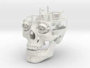 Full Animatronic Skull in White Natural Versatile Plastic