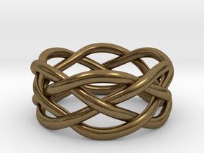 Dreamweaver Ring (Size 6) in Natural Bronze