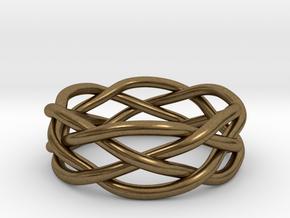 Dreamweaver Ring (Size 8) in Natural Bronze