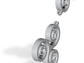 Triskell Earrings in Polished Silver