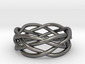 Dreamweaver Ring (Size 10) in Polished Nickel Steel