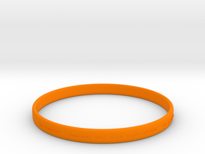 Good Value Bracelet in Orange Processed Versatile Plastic